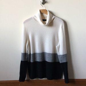 Talbots Sweaters - Talbots Cashmere stripe turtleneck sweater